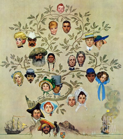 """Family Tree"", October 24,1959 Stretched Canvas Print"