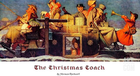 """The Christmas Coach"", December 28,1935 Stretched Canvas Print"