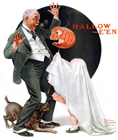 """Halloween"", October 23,1920 Stretched Canvas Print"