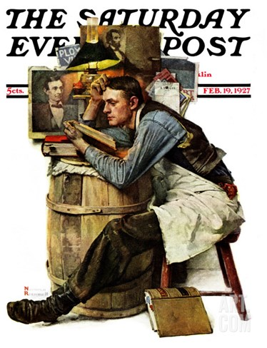 """Law Student"" Saturday Evening Post Cover, February 19,1927 Stretched Canvas Print"