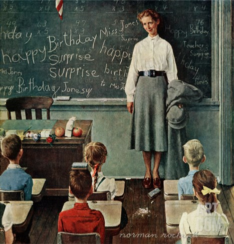 """Happy Birthday, Miss Jones"", March 17,1956 Stretched Canvas Print"