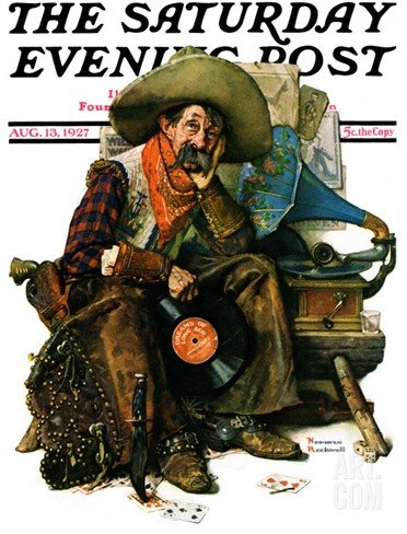 """Dreams of Long Ago"" Saturday Evening Post Cover, August 13,1927 Stretched Canvas Print"