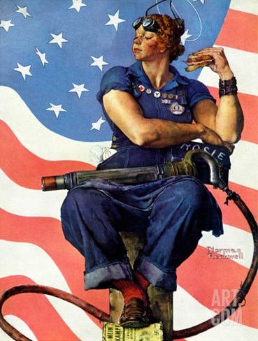 """Rosie the Riveter"", May 29,1943 Stretched Canvas Print"
