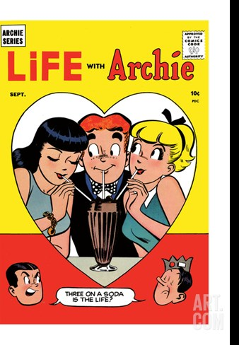 Archie Comics Retro: Life with Archie Comic Book Cover No.2 (Aged) Stretched Canvas Print