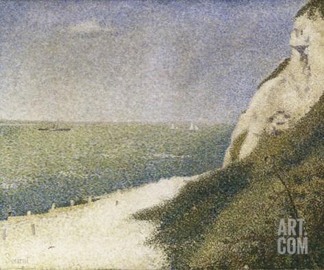 Beach at Bas Butin, Honfleur Stretched Canvas Print