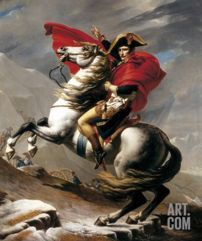 Napoleon Crossing the Saint Bernard Stretched Canvas Print