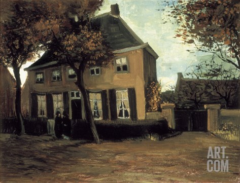 The Parish House in Nuenen Stretched Canvas Print