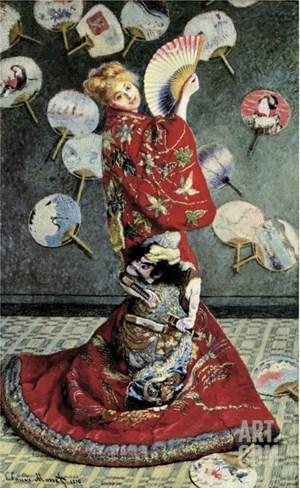 La Japonaise (Camille Monet in Japanese Costume) Stretched Canvas Print