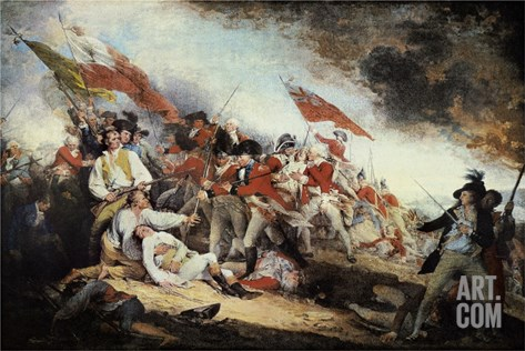 The Battle of Bunker Hill Stretched Canvas Print