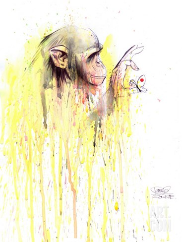 Monkey 11 Stretched Canvas Print