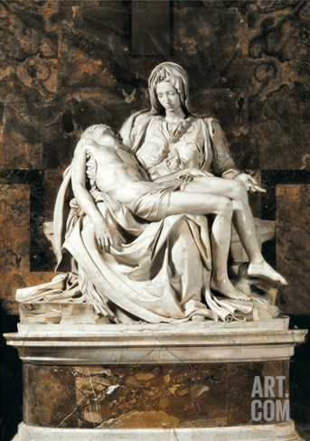 Pieta Stretched Canvas Print