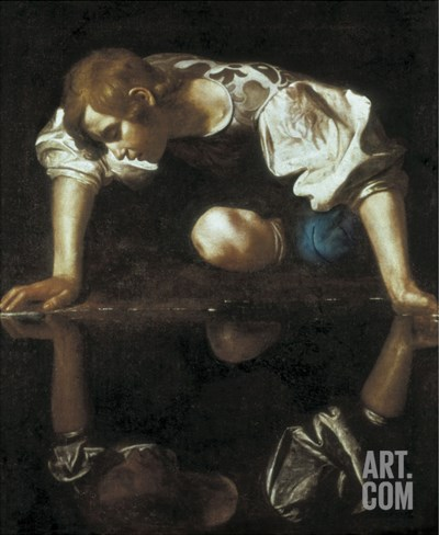 Narcissus Stretched Canvas Print