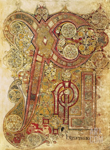 Book of Kells Stretched Canvas Print