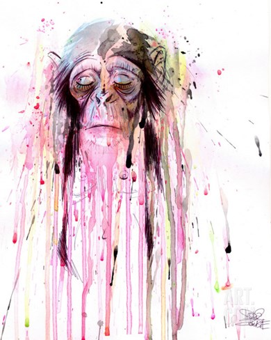Monkey 8 Stretched Canvas Print