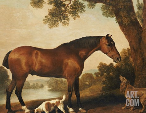 A Bay Hunter, a Springer Spaniel and a Sussex Spaniel, 1782 Stretched Canvas Print