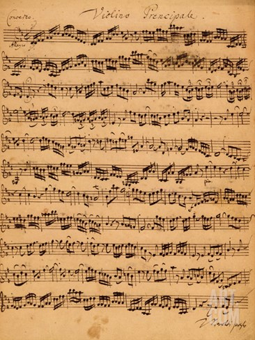 The Brandenburger Concertos, No.5 D-Dur, 1721 Stretched Canvas Print