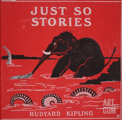 Front Cover from 'Just So Stories for Little Children' by Rudyard Kipling, 1951 Stretched Canvas Print