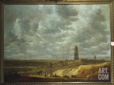 Peasants Feasting and Dancing Near Drij Toren Stretched Canvas Print