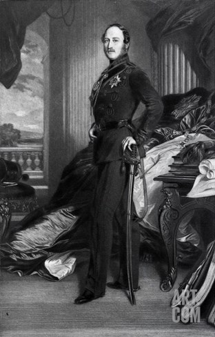 Prince Albert, after the Painting of 1859 Stretched Canvas Print