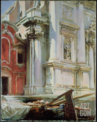 Church of San Stae, Venice, 1913 Stretched Canvas Print