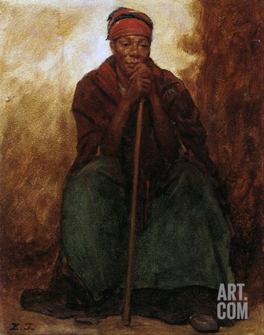 Dinah, the Black Servant, 1866-69 Stretched Canvas Print