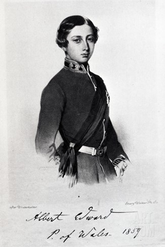 Edward, Prince of Wales, Engraved by Emery Walker Stretched Canvas Print