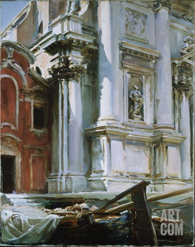 Church of St. Stae, Venice, 1913 Stretched Canvas Print