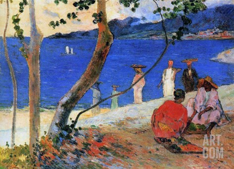 Seashore, Martinique Island, 1887 Stretched Canvas Print