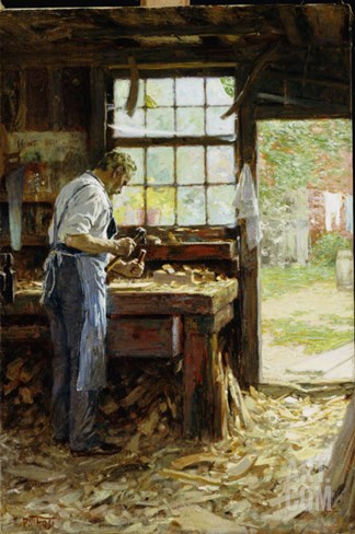 Village Carpenter, 1899 Stretched Canvas Print