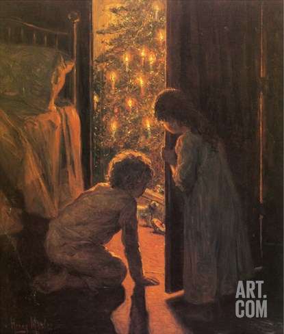 The Christmas Tree, C.1916 Stretched Canvas Print