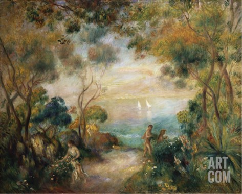 A Garden in Sorrento Stretched Canvas Print