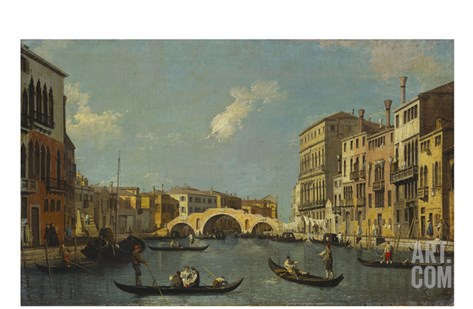 The Cannaregio, Venice Stretched Canvas Print