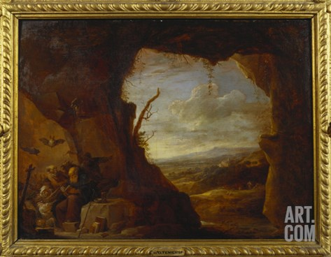 The Temptation of St. Anthony Stretched Canvas Print