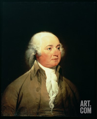 Portrait of John Adams, C.1793 Stretched Canvas Print