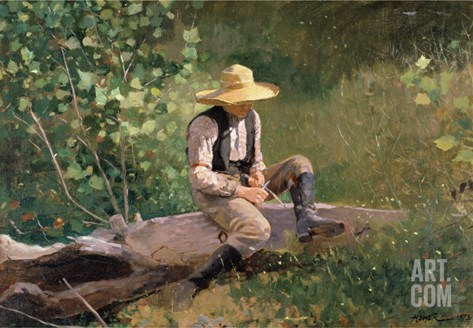 The Whittling Boy, 1873 Stretched Canvas Print