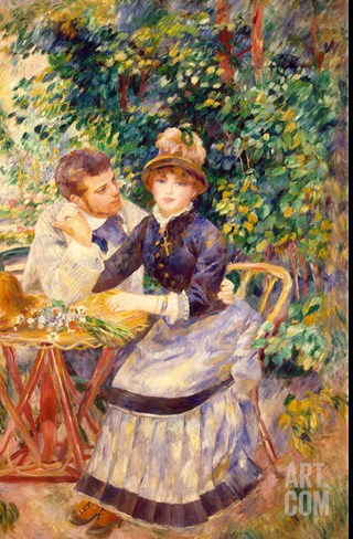 In the Garden, 1885 Stretched Canvas Print