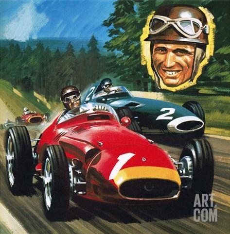 Juan Manuel Fangio Stretched Canvas Print