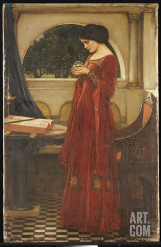 The Crystal Ball, 1902 Stretched Canvas Print
