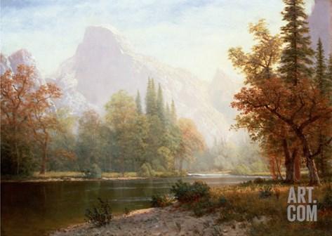 Half Dome, Yosemite Stretched Canvas Print