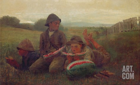 The Watermelon Boys, 1876 Stretched Canvas Print