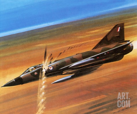 Dassault Mirage Iii-0 Stretched Canvas Print