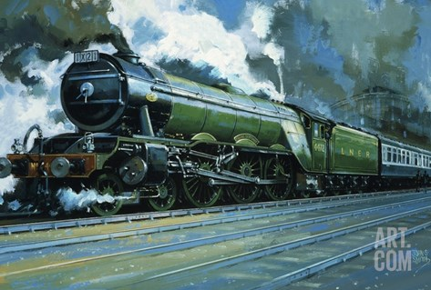 The Flying Scotsman Stretched Canvas Print