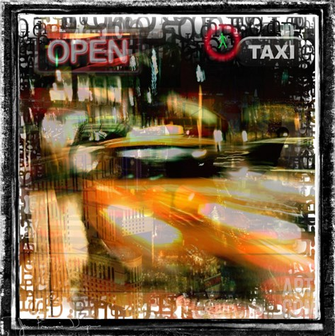 Taxi Diver Stretched Canvas Print