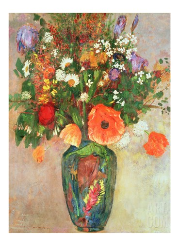 Vase De Fleurs Stretched Canvas Print