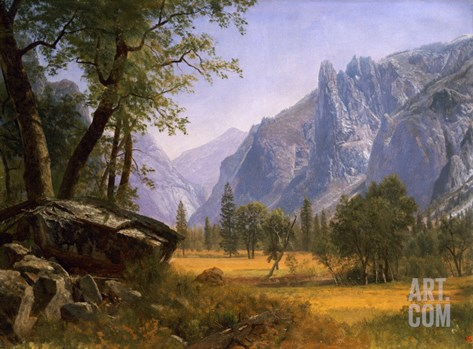 Yosemite Valley Stretched Canvas Print