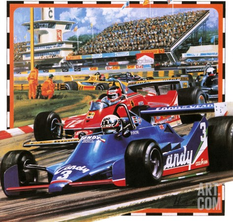 Grand Prix Racing Stretched Canvas Print