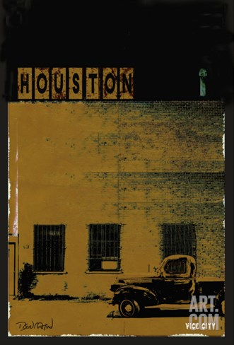 Vice City - Houston Stretched Canvas Print