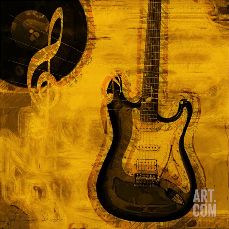 Music III Stretched Canvas Print
