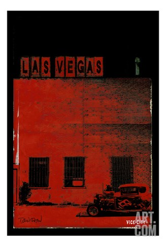 Vice City - Las Vegas Stretched Canvas Print
