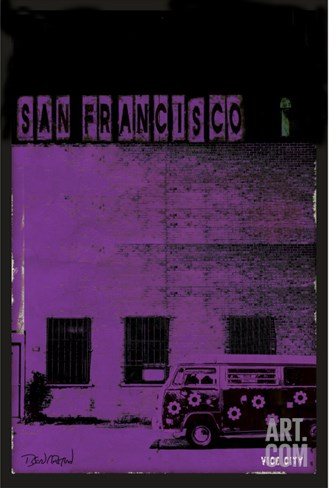Vice City - San Francisco Stretched Canvas Print